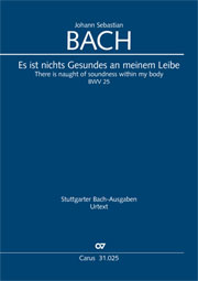 Johann Sebastian Bach: There is naught of soundness within my body