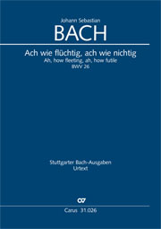 Johann Sebastian Bach: Ah, how fleeting, ah, how futile