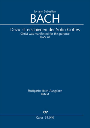 Johann Sebastian Bach: Christ was manifested for this purpose