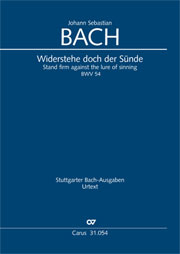 Johann Sebastian Bach: Stand firm against the lure of sinning