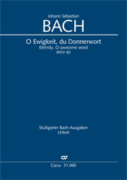 Johann Sebastian Bach: Eternity, O awesome word
