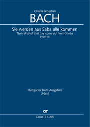 Johann Sebastian Bach: They all shall day come out from Sheba