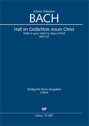 Johann Sebastian Bach: Hold in your mem'ry Jesus Christ