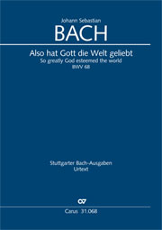 Johann Sebastian Bach: So greatly God esteemed the world