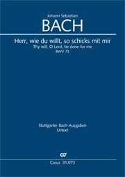 Johann Sebastian Bach: Thy will, O Lord, be done for me