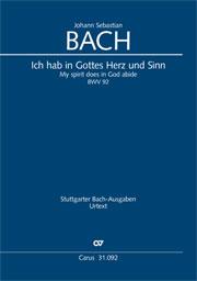 Johann Sebastian Bach: My spirit does in God abide