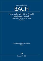 Johann Sebastian Bach: Lord, be not too quick to judge