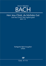 Johann Sebastian Bach: Lord Jesus Christ, thou highest good
