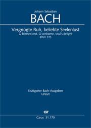Johann Sebastian Bach: O blessed rest, O welcome, soul's delight