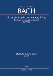 Johann Sebastian Bach: The heart is wicked, defiant and deceitful