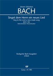 Johann Sebastian Bach: Sing to the Lord a new-made song
