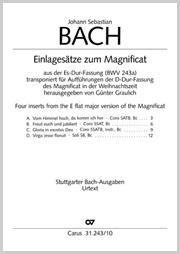 Bach, Johann Sebastian: Einlagesätze zum Magnificat