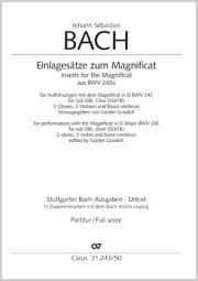 J.S. Bach: Insert movements for the Magnificat from BWV 243a