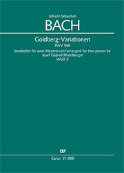 Johann Sebastian Bach: Aria with 30 variations