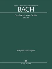 Johann Sebastian Bach: Sarabanda con Partite