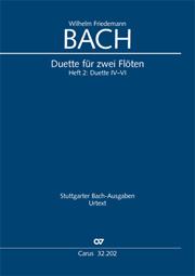 W. F. Bach: Duette für zwei Flöten, Band 2
