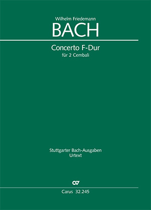 Wilhelm Friedemann Bach: Concerto in F-Dur für 2 Cembali