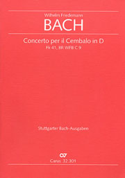 Wilhelm Friedemann Bach: Cembalo Concerto in D major