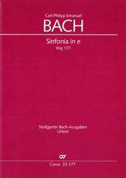 Carl Philipp Emanuel Bach: Sinfonia in e