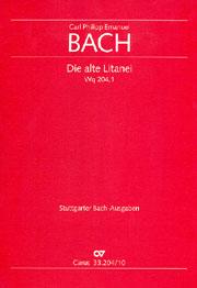 Carl Philipp Emanuel Bach: L'ancienne litanie I