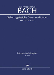 C.P.E. Bach: Sacred Odes and Songs (Gellert)