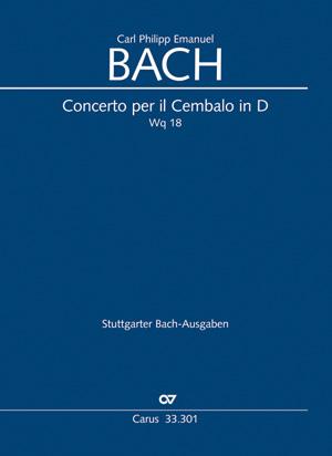 Carl Philipp Emanuel Bach: Concerto pour clavecin en ré majeur