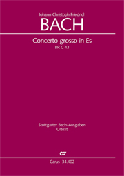 Johann Christoph Friedrich Bach: Concerto grosso for cembalo or piano