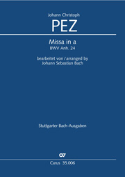 Johann Christoph Pez: Mass in A minor