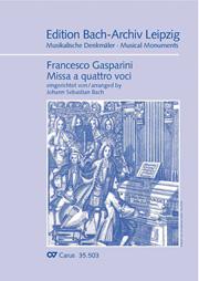 Francesco Gasparini: Missa a quattro voci