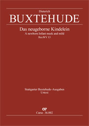 Dieterich Buxtehude: A newborn Infant meek and mild