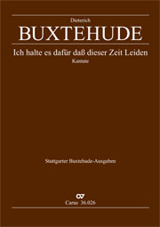 Dieterich Buxtehude: Ich halte es dafür
