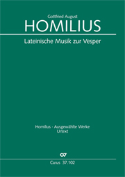 Homilius: Lateinische Musik zur Vesper. Werkausgabe