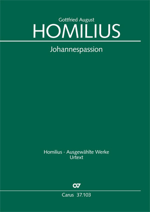 Gottfried August Homilius: Johannes-Passion