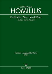 Gottfried August Homilius: Frohlocke, Zion, dein Erlöser