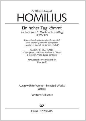 Gottfried August Homilius: Ein hoher Tag kömmt