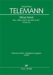 Georg Philipp Telemann: Missa brevis