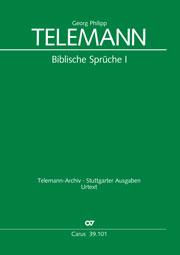 Telemann: Biblische Sprüche 1