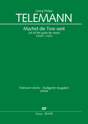 Georg Philipp Telemann: Let all the gates be raised