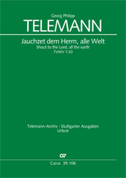Georg Philipp Telemann: Shout, O shout to the Lord