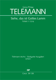 Georg Philipp Telemann: Look there, that is God's own lamb (II)
