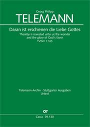 Georg Philipp Telemann: Daran ist erschienen die Liebe Gottes