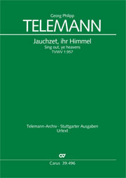 Georg Philipp Telemann: Sing out, ye heavens