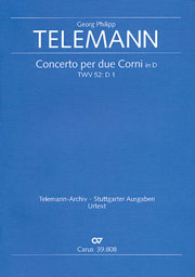 Georg Philipp Telemann: Concerto per due Corni in D