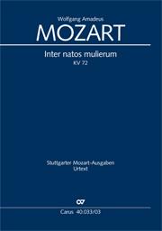 Wolfgang Amadeus Mozart: Inter natos mulierum