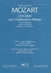 Mozart: Drei Sätze zum Ordinarium Missae