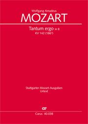 Wolfgang Amadeus Mozart: Tantum ergo in B flat major