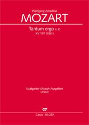 Wolfgang Amadeus Mozart: Tantum ergo in D major
