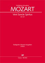 Wolfgang Amadeus Mozart: Veni Sancte Spiritus