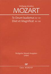 Mozart: Dixit et Magnificat; Te Deum