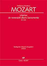 Wolfgang Amadeus Mozart: Litaniae de venerabili altaris Sacramento en mi bémol majeur